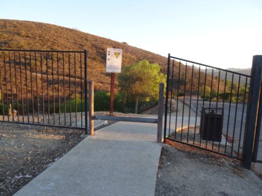 Trailhead access point at the end of La Granada Drive.