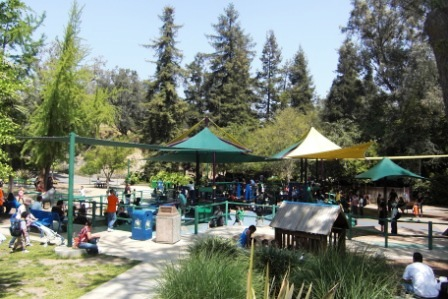 Nicely appointed kids' play area at Los Angeles Zoo