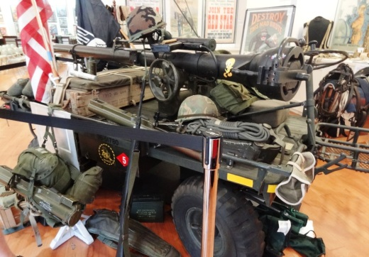 Military Mule with armament (not live of course lol) on display.
