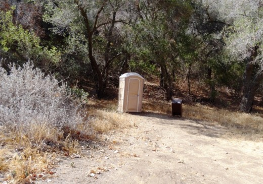 Less than a mile north of the Danielson Multi-use area is this well placed porta-john.