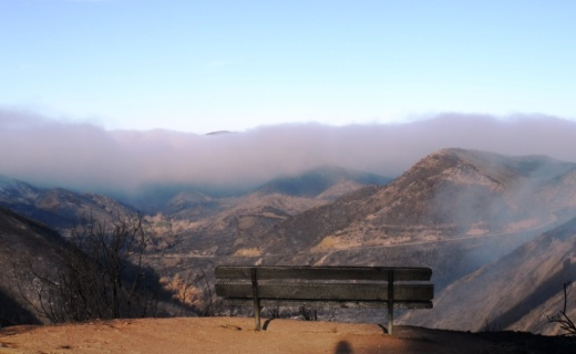 Bench at Sycamore Canyon Overlook on 5/14/13.