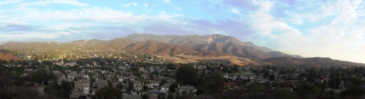 Boney Mountain range overlooks the western Conejo Valley.