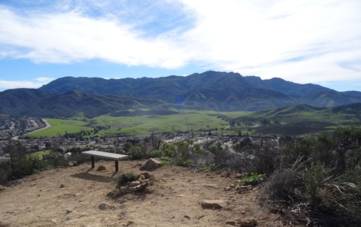 Potrero Ridge Trail bench provide extensive views