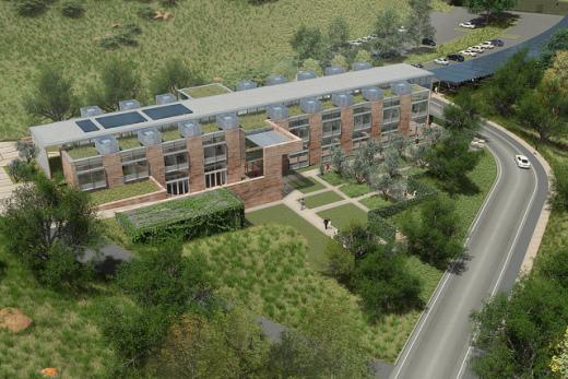 Architectect rendering of new Agoura Hills Conrad N. Hilton Foundation Campus
