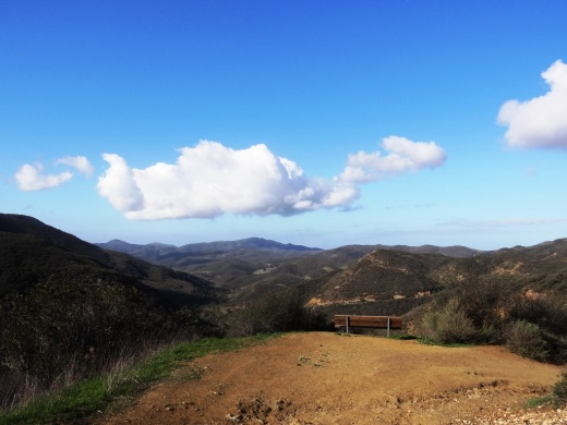 Another bench that overlooks Sycamore Canyon from the Boney Mountain Trail.