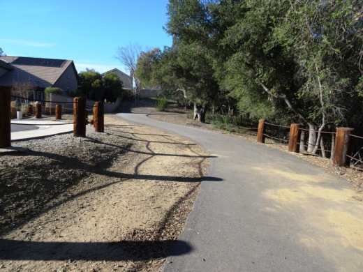 Nicely paved path at Medea Creek Natural Park in Oak Park