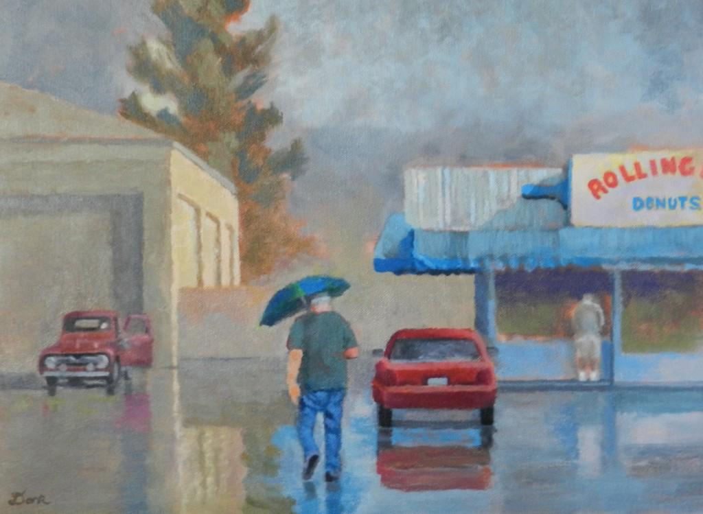 Rolling Pin Donuts on Rainy Day (Artist: Linda Dark)