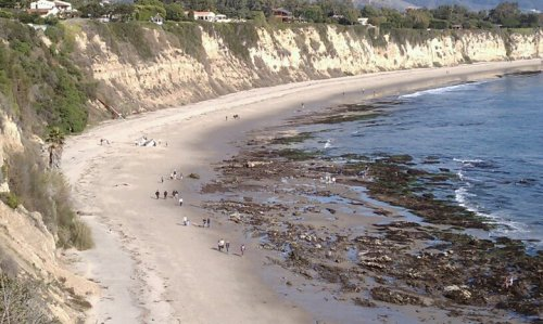 Looking down on the beach at Point Dume