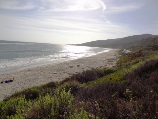View looking northwest towards Leo Carrillo.
