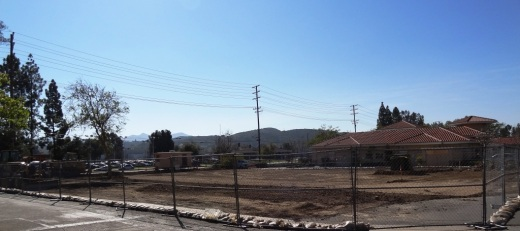 View of the former Wienerschnitzel from the Do It Center parking lot