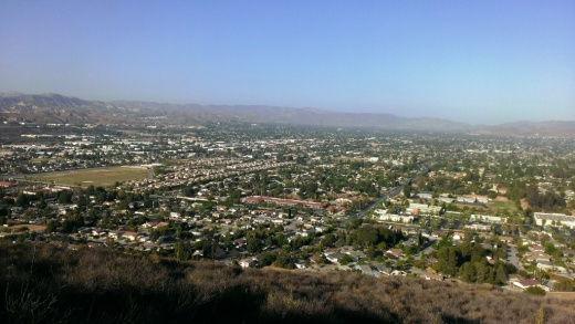 Views of Simi Valley from the peak of Mt. McCoy in Simi Valley.