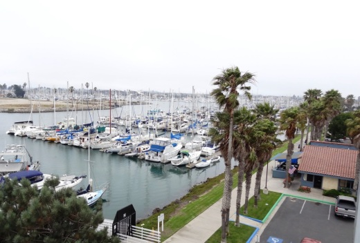 Deck on the 2nd floor of the Visitor Center has views towards Ventura Harbor and the ocean.