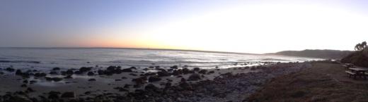El Capitan State Beach at sundown.
