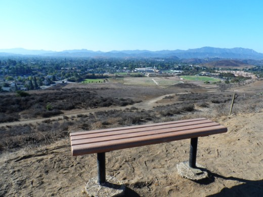 One of two benches in the hills above CLU overlooking Thousand Oaks.
