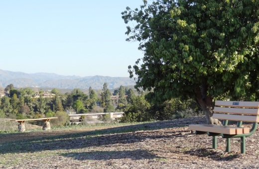 There are dozens of benches facing all directions in the beautiful hilltop Conejo Valley Botanic Garden in the heart of Thousand Oaks