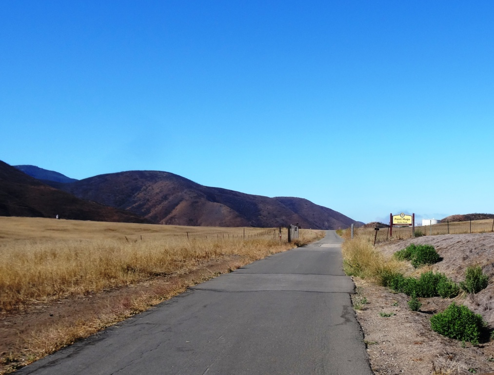 Sycamore Canyon Fire Road approaching entry into Point Mugu State Park