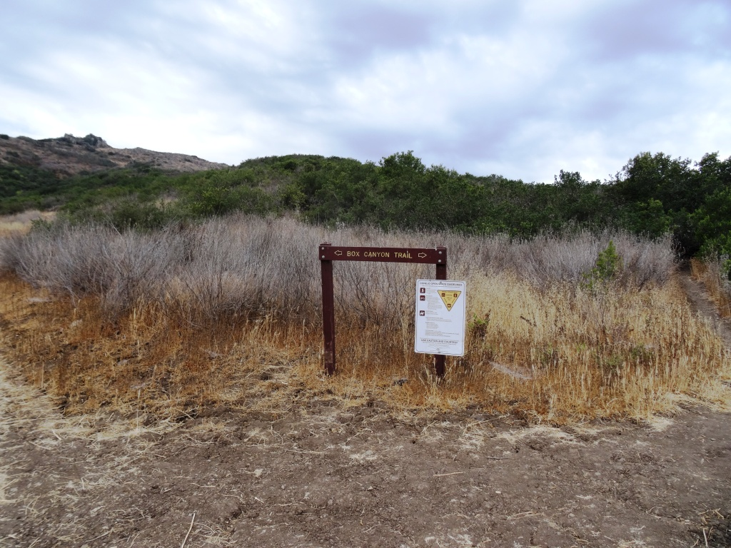 Box Canyon Trail Sign