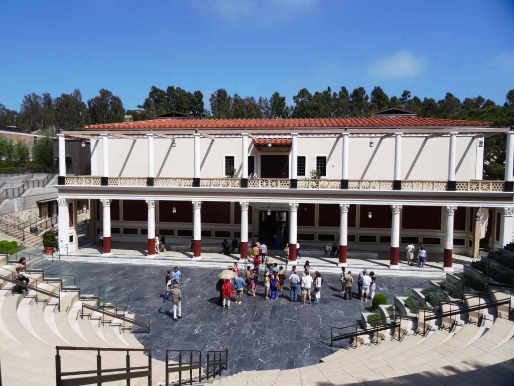 Main museum at the Getty Villa