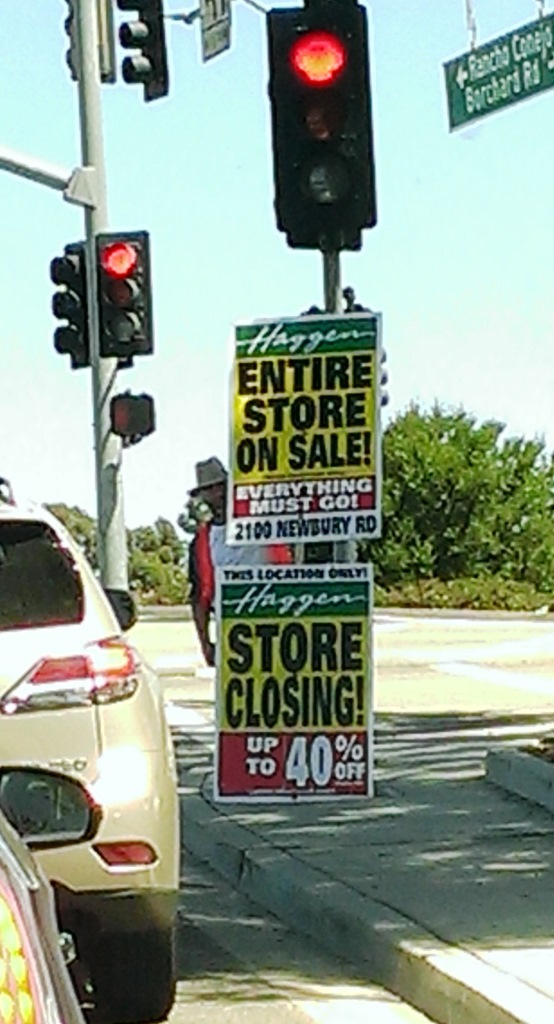 Seen near the Newbury park location on labor day