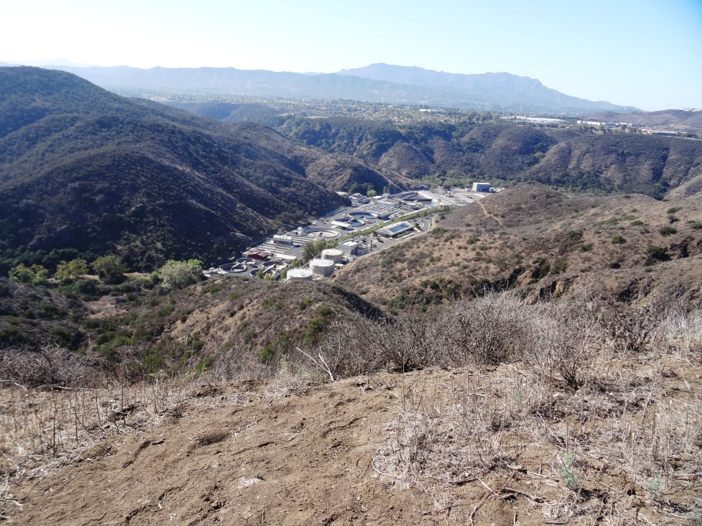 View of Hill Canyon Waste Treatment Plan from near Lizard Rock