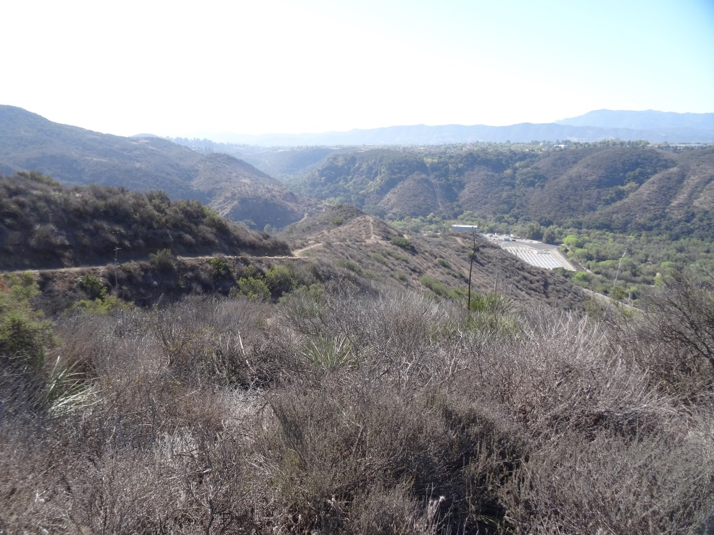 The descent down Lizard Rock Trail
