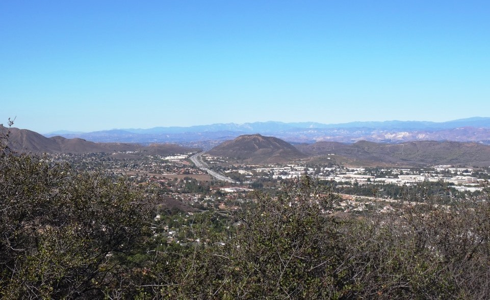 Views from the top of Space Mountain looking west toward the Conejo Grade.