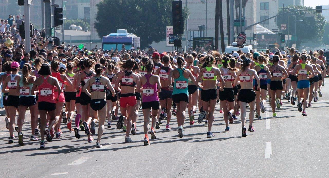 Some extremely fit looking runners at the 2016 Olympic Marathon Trials (Photo Credit: Carl Pytlinski)