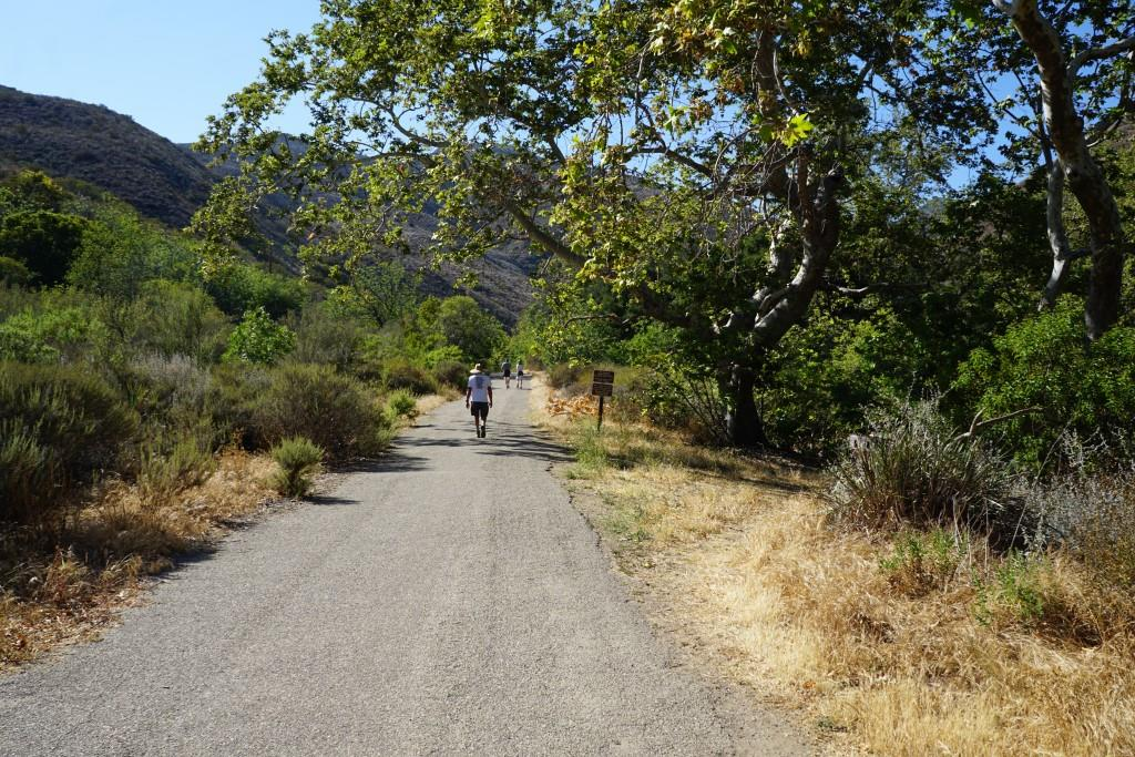 A large portion of the Solstice Canyon Trail is paved.
