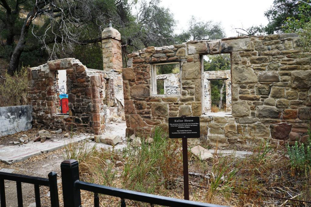 You can walk fairly close to the Keller House ruins.