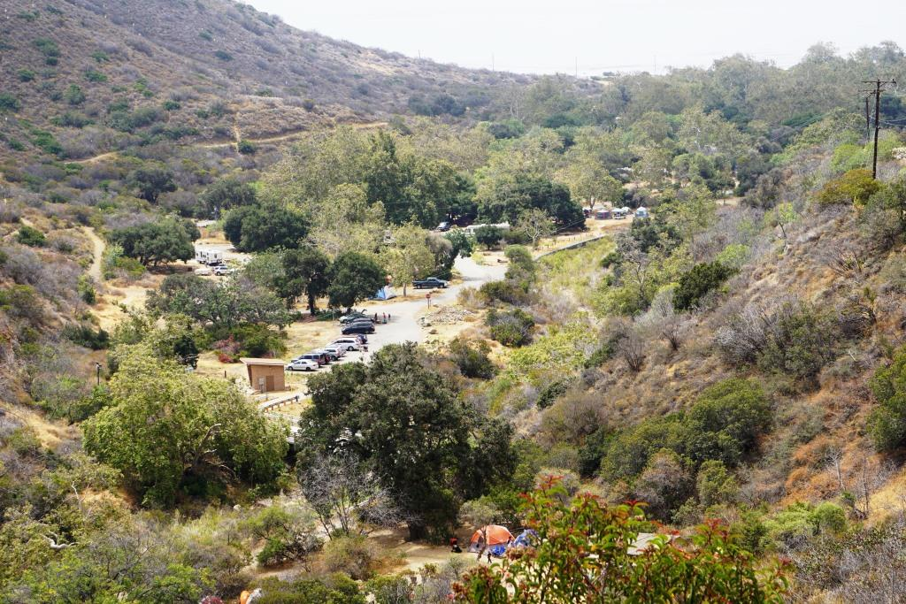 Camping at Leo Carrillo State Park is extremely popular. (This was photo was taken before the Woolsey Fire of November 2018.)