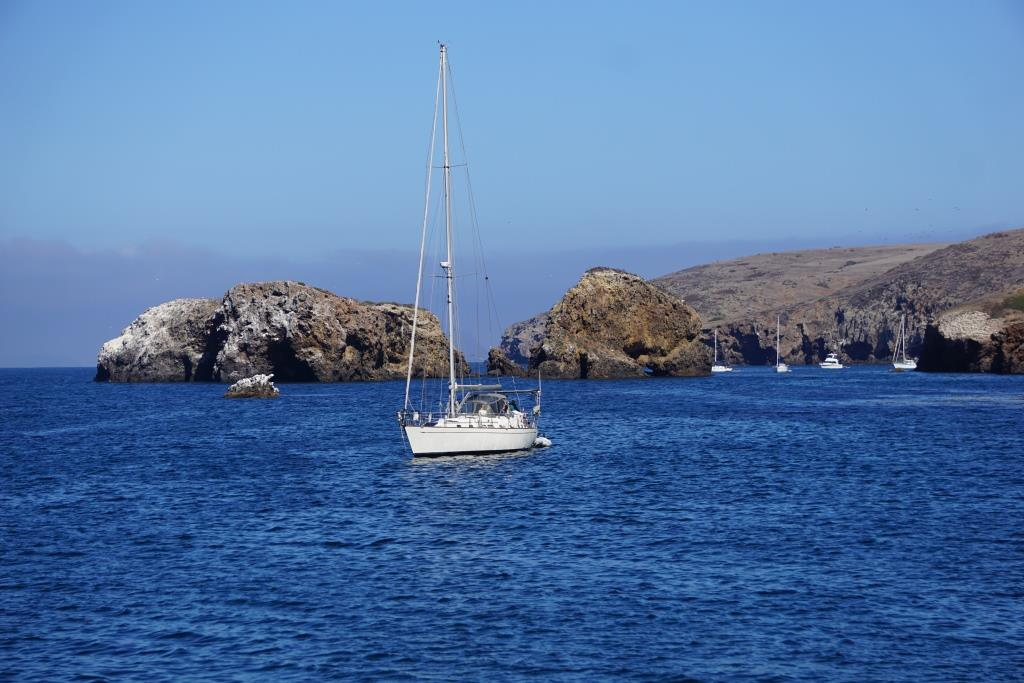 Views of the Scorpion Rock area of Santa Cruz Island