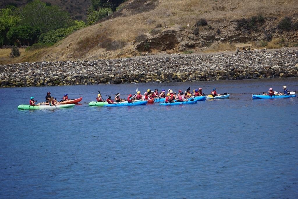 Kayaking is quite popular at Santa Cruz Island