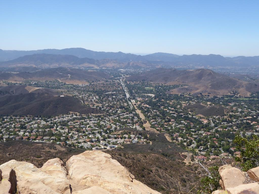 View from Simi Peak towards Oak Park.