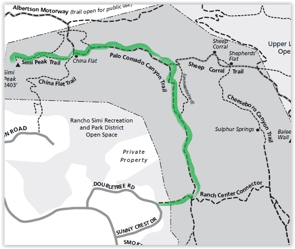 Fancy, green highlighted map (courtesy National Park Service).