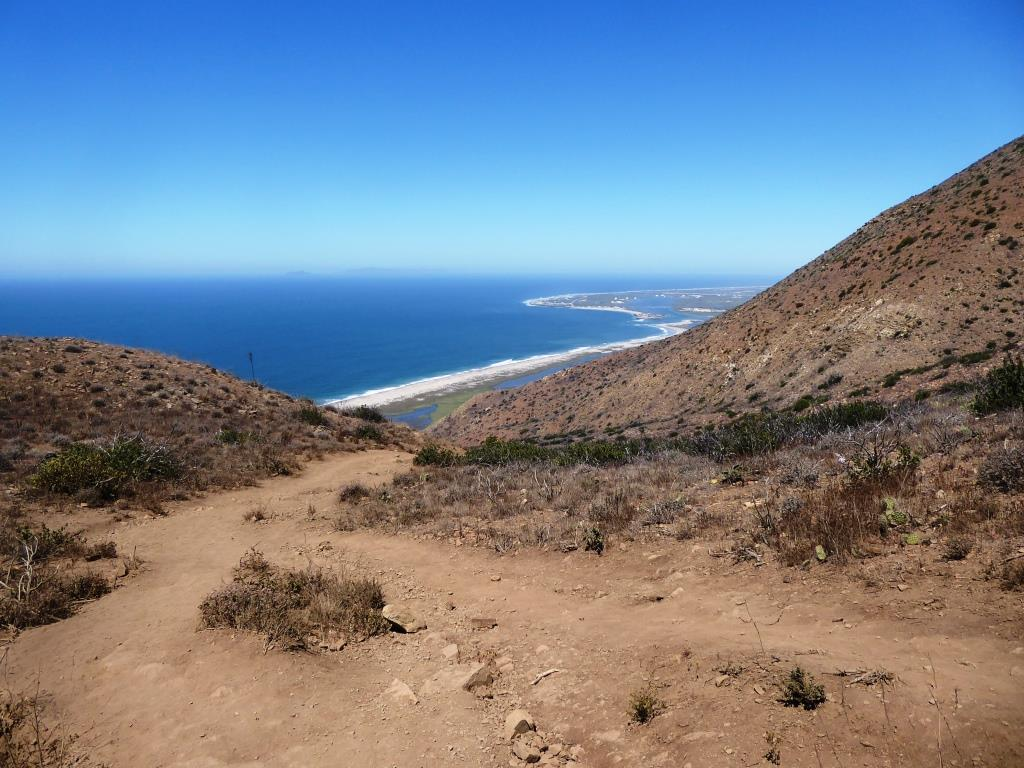 The first .7 mile of the Chumash Trail is quite rocky and steep. Make sure to wear good hiking shoes and possibly carry a hiking stick, especially if you have bad knees. Dogs are not allowed. My kids did not enjoy this particular hike (ages 8 and 11 at the time). Definitely not stroller friendly. Awesome views and nice ocean breezes, but there is no protection from the sun, so wear sunscreen if it is sunny out.