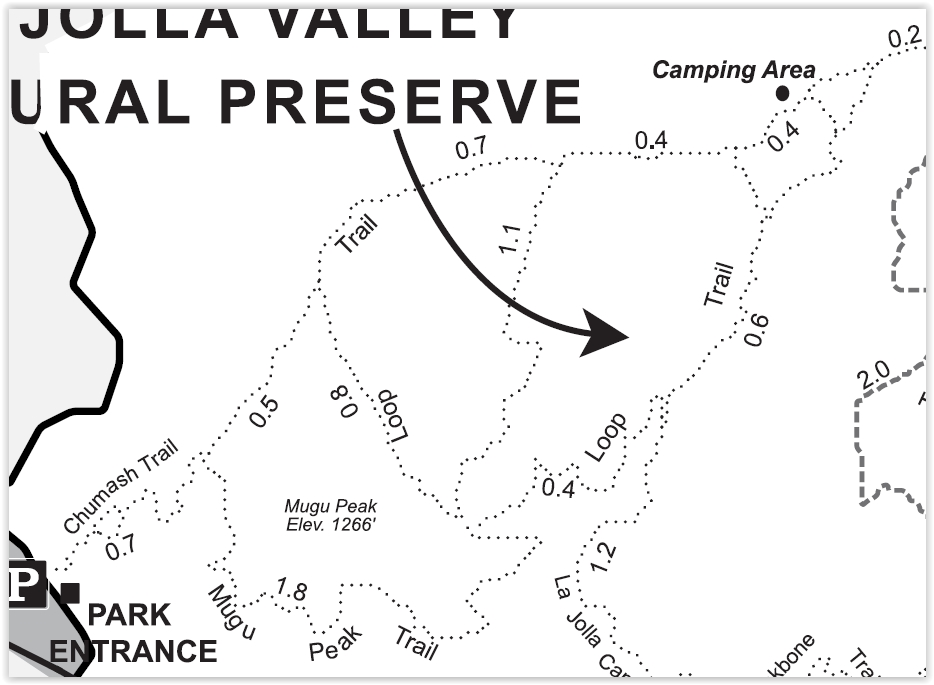 Map snippet courtesy of California State Parks