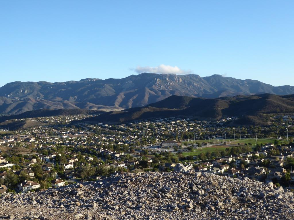 View of Boney Mountain range from midway up the Powerline Trail in Newbury Park.