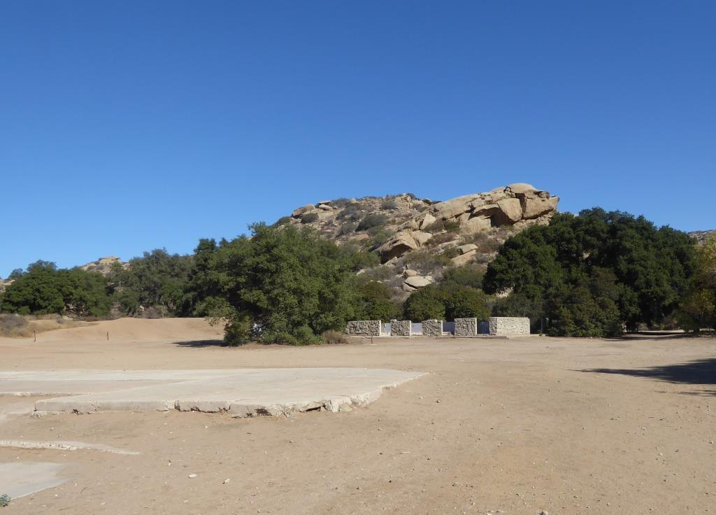 Corriganville today...the ranch burned down in the 1970s, leaving just these cement slabs and exterior walls.