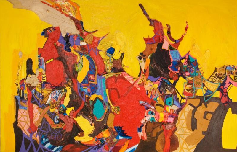 Ali Smith, Half-Life , 2007, oil on canvas, 84 x 130 in.Frederick R. Weisman Art Foundation, Los Angeles