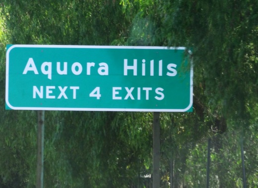 Ah yes, comic relief courtesy of Caltrans signmakers in 2013 when a new Agoura Hills sign on the 101 was put up   filled with typos  . It was subsequently   corrected  .