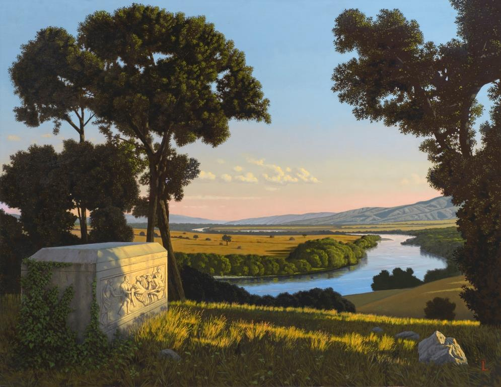 "David Ligare's oil painting ""Et in Arcadia Ego"""