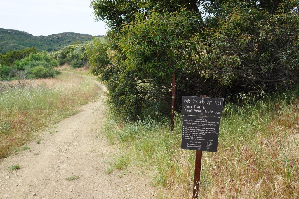 Transition to Palo Comado Canyon Trail