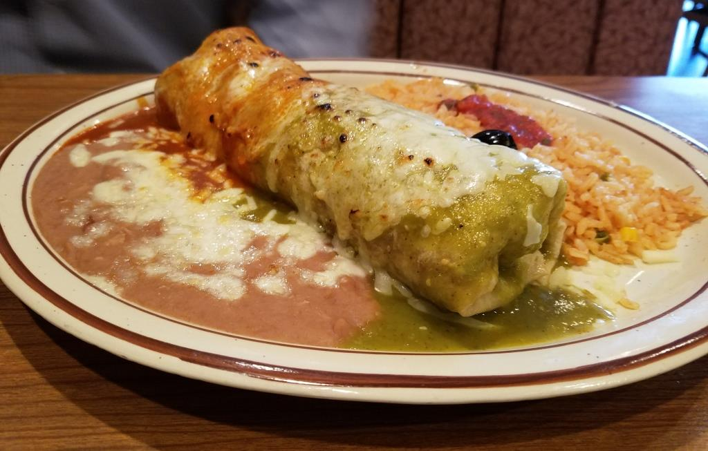 A random, delicious looking burrito combo plate from an unnamed Mexican eatery (from the Conejo Valley Guide archives).