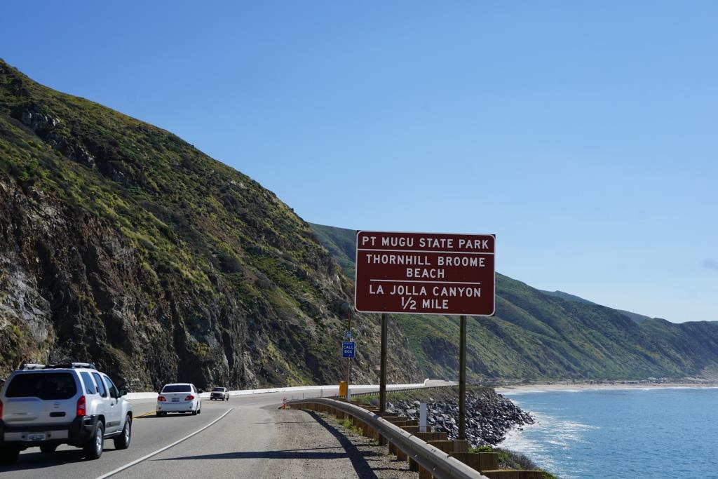 Traveling southeast on PCH from Oxnard/Camarillo; this sign tells you you're just about there.