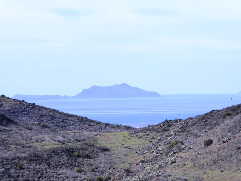 On a clear day you can see Anacapa Island from Newbury Park at the Rancho Potrero Open Space and other locations.