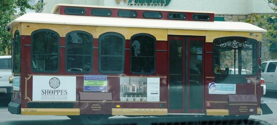 Trolley seen around town in Westlake Village