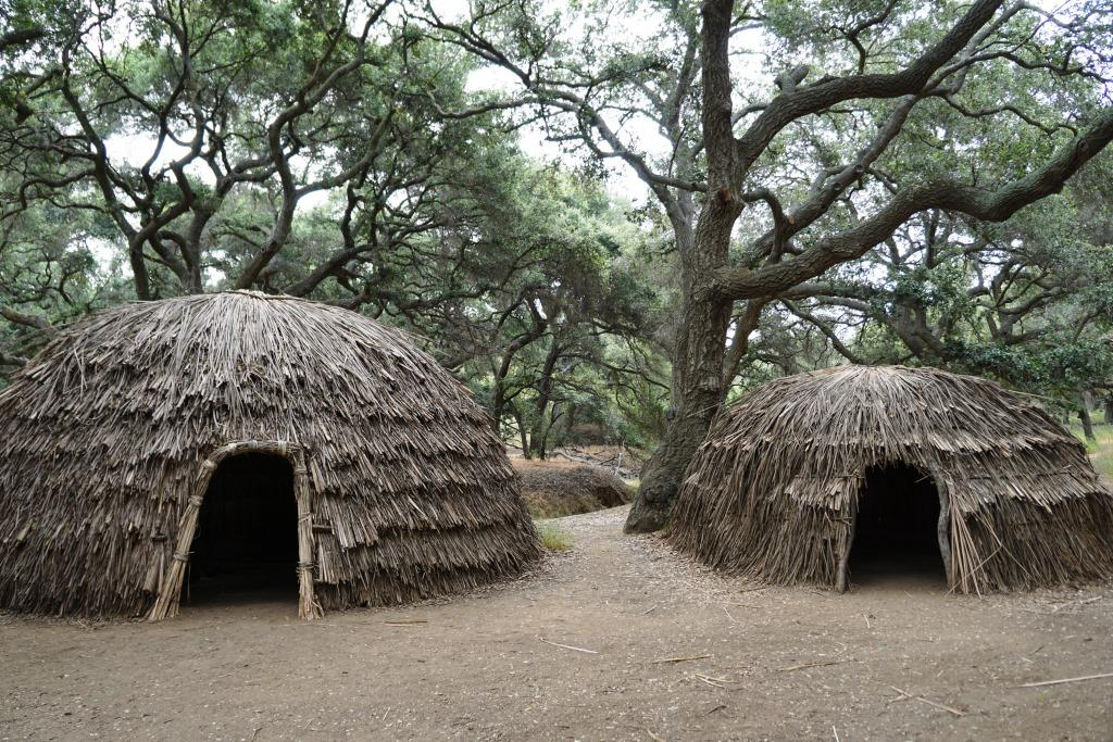 'Aps at   Chumash Indian Museum  's demonstration village.