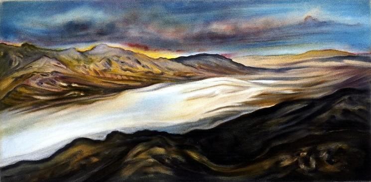 Death Valley Salt Flats by artist Linda Vallejo
