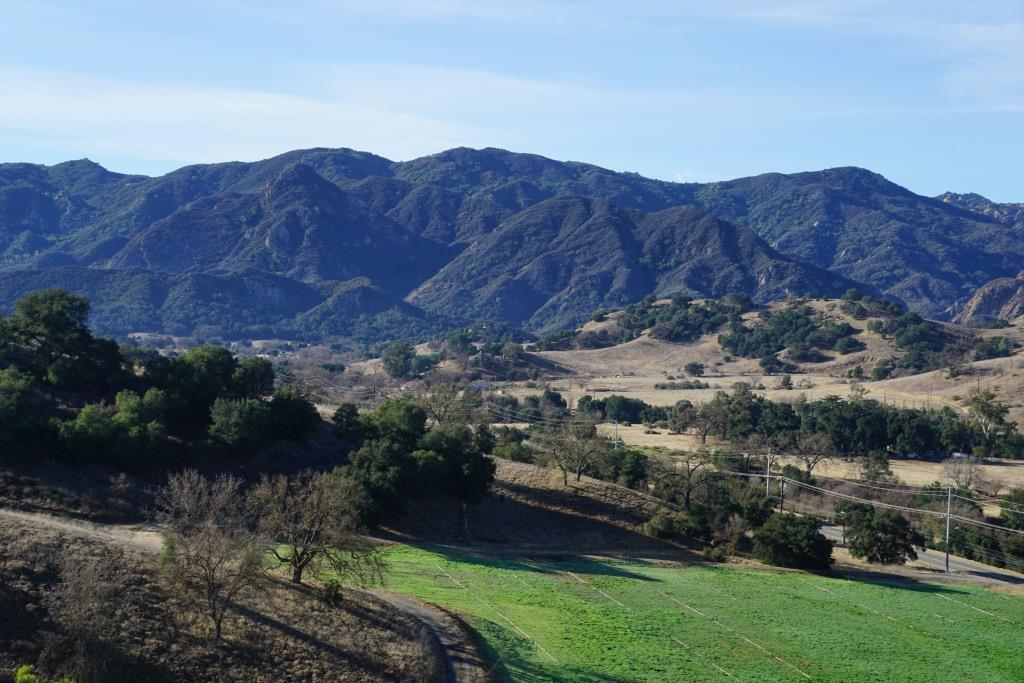 View from the Las Virgenes View Park Trail towards Malibu Creek State Park.