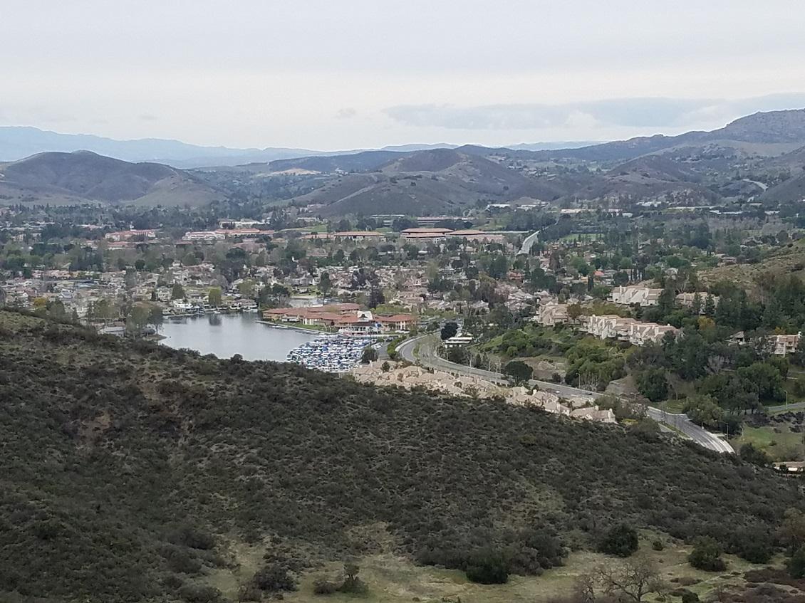 Views towards Westlake Lake from the Westlake Vista Trail.